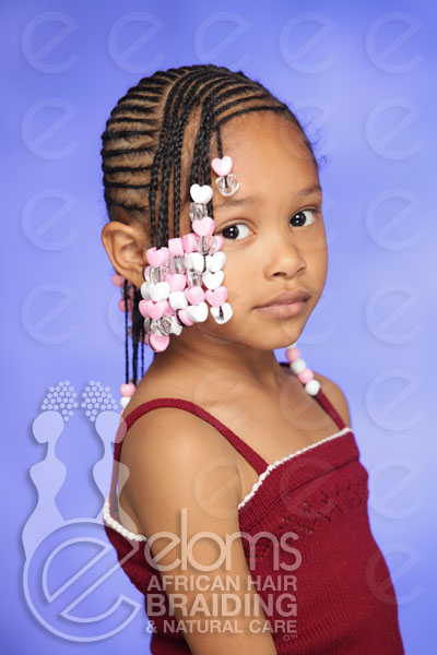 Eloms African Hair Braiding Kids Corn Rows