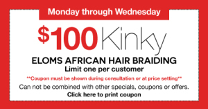 $100 Kinky Twists